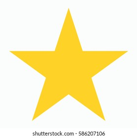 Gold Star shape isolated on white background. flat sign. Yellow internet concept. Trendy vector decoration symbol for website design, mobile app. Logo illustration. vector illustration.