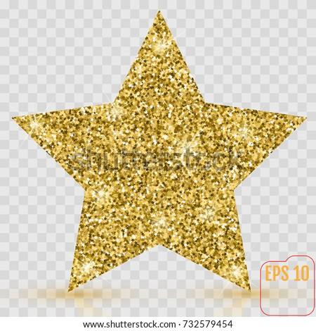 gold star vector banner gold glitter stock vector royalty free