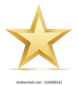 Gold star. Vector illustration.