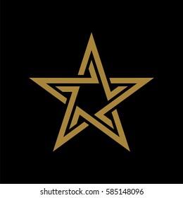 Gold Star vector Logo Template Illustration Design. Vector EPS 10.