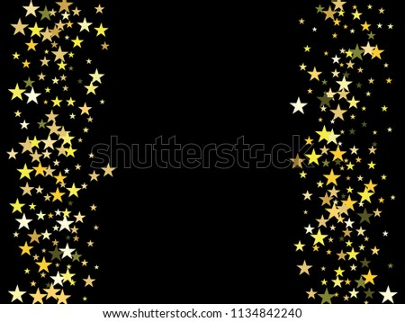 gold stars confetti vector cosmic magic light border fairy christmas lights gamour sparkles