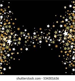 Gold stars on a black.