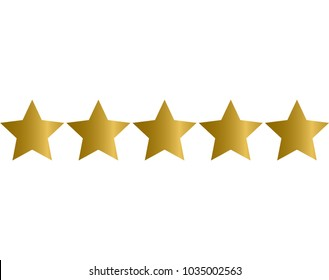 gold stars rating icon