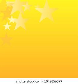 gold stars vector background. yellow shiny graphic backdrop. golden sparkles confetti falling. magic shining Flying glitter on night sky cosmic backdrop, sparkle christmas border.
