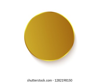 Gold sticker isolated