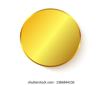 Gold sticker isolated with shadow