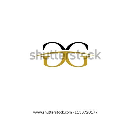 e4aea8e74ce9 Gold Swoosh Letter GG Logo Stock Vector (Royalty Free) 1133720177 ...
