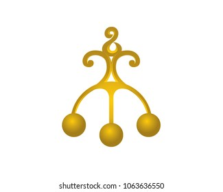 Gold symbol of pawnshop