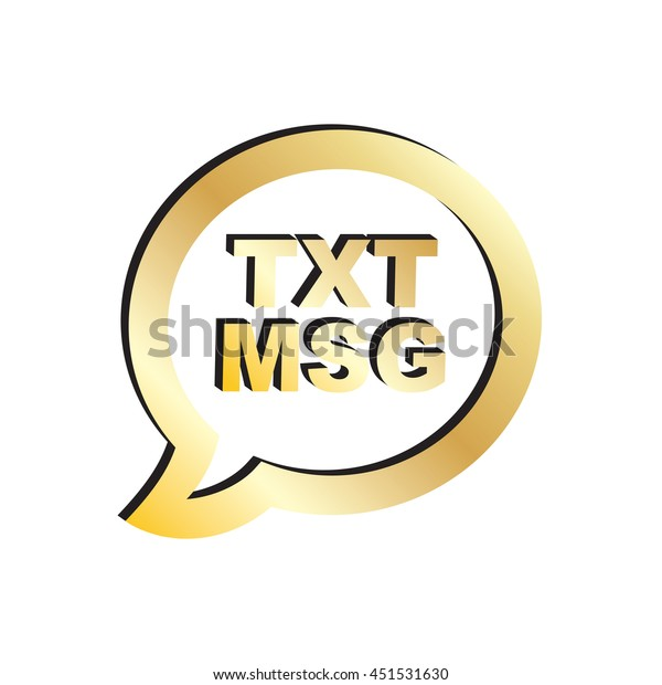 Gold Text Message Icon Stock Vector (Royalty Free) 451531630
