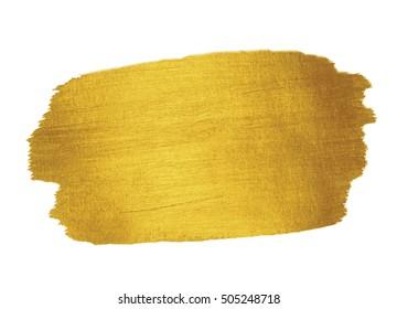 Gold Texture. Brush stroke design element.