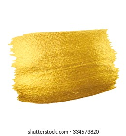 Gold Texture. Brush stroke vector design element.