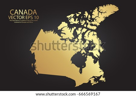 Map Of Canada Eps.Gold Texture Map Canada Abstract Metal Stock Vector Royalty Free