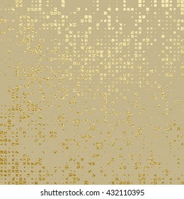 Gold texture. Metal pattern. Abstract gold glitter background