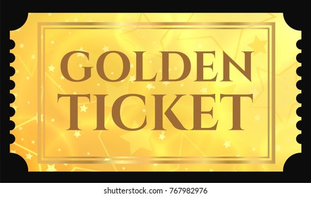 picture regarding Golden Ticket Printable referred to as Golden Ticket Illustrations or photos, Inventory Shots Vectors Shutterstock