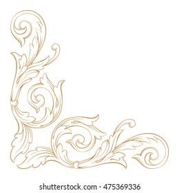 Gold traditional, Islam, arabic, indian ornament. Decorative retro greeting card or invitation design.
