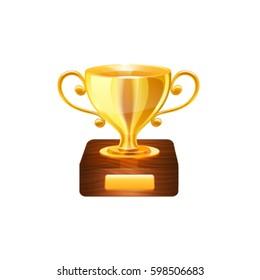 Gold trophy. Vector