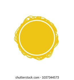 Gold Vector Abstract Circle Scribble Background