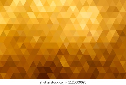 Gold vector polygonal pattern. Abstract Geometric background. Triangle. Mosaic gradient