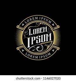 gold vintage logo