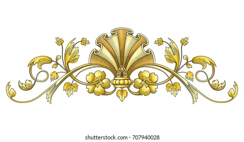 Gold Vintage Ornament vector