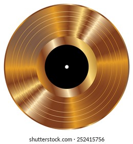 Gold vinyl vector illustration.