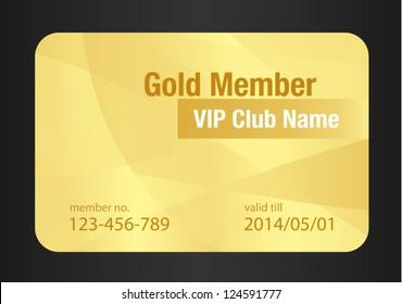 Gold VIP Club Card