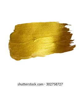 Gold watercolor texture paint stain vector abstract illustration. Shining brush stroke for you amazing design project