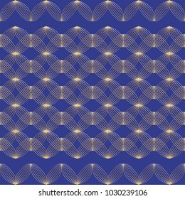 Gold wire border pattern