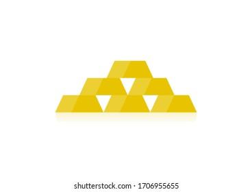 Gold yellow Golden bar symbol
