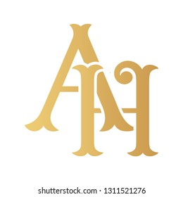 Ah Monogram Images Stock Photos Vectors Shutterstock