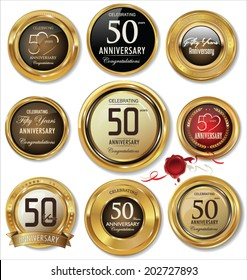 Golden anniversary labels, 50 years collection