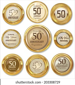 Golden anniversary labels,50 years