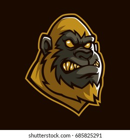 Golden apes sign and symbol logo vector.