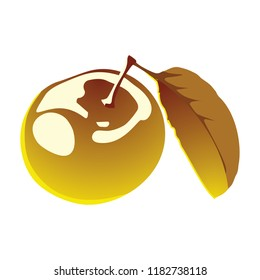 Golden Apple Isolated vector
