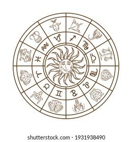 golden astrology zodiac symbol icon