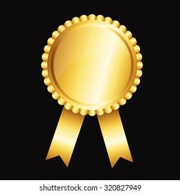 golden award with ribbon