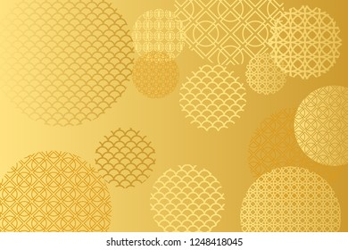 Golden background for Chinese New Year Greeting Card. Vector EPS10