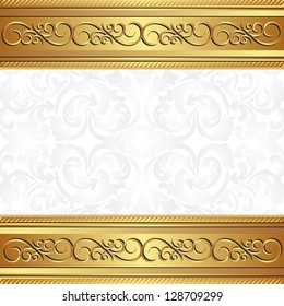 golden background with floral ornaments