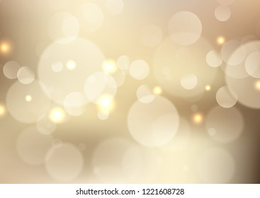 Golden background with soft bokeh lights