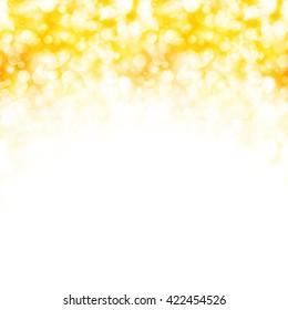 Golden background with sparkling lights, vector  illustration