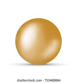 golden ball isolated on white background
