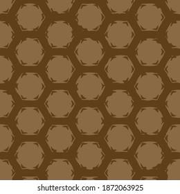 golden bee panel geometric pattern