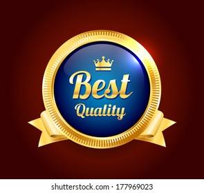 Golden Best Quality Badge