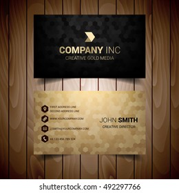 Golden And Black Business Card