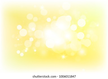Golden blurry star light shiny bokeh bubble air blinking galaxy luxury abstract background