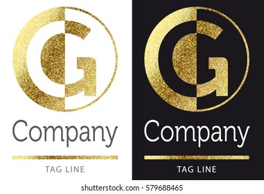golden bright letter G logo