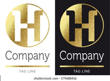 golden bright letter H logo
