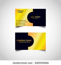 Golden Business Card Template, Vector, Illustration, Eps File