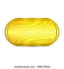 Golden button circle