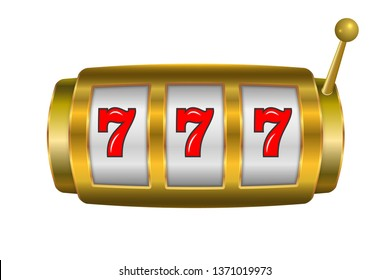Golden casino slot machine, jackpot poster template
